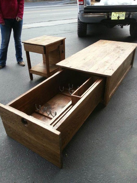 coffee table gun locker coffee table with locking gun safe cathy j riley pinterest. Black Bedroom Furniture Sets. Home Design Ideas