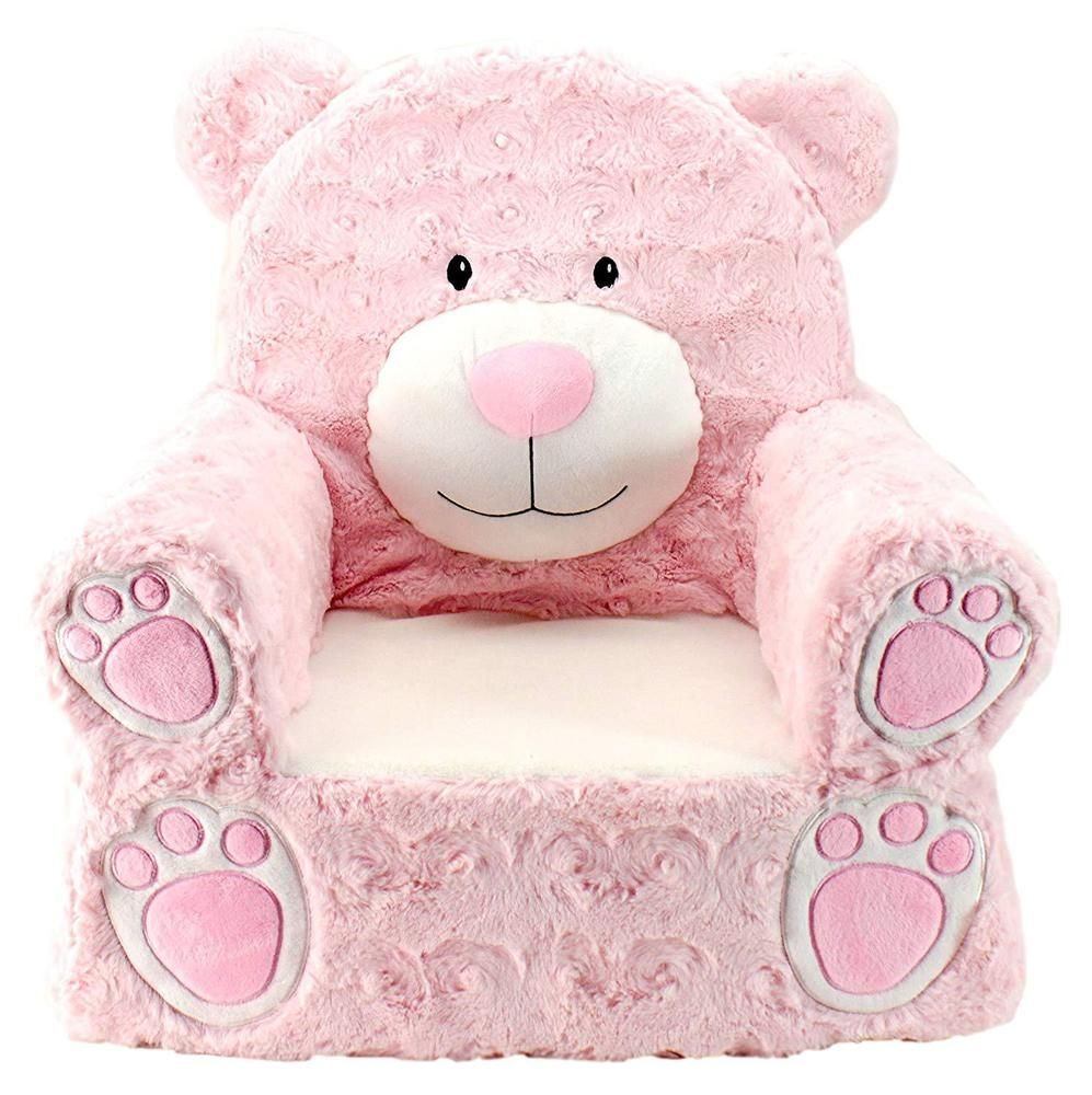 Girls Bear Chair Durable Large Children Bedroom Furniture Machine