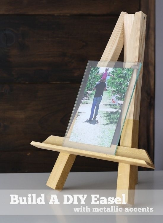 Propped And Metallic Diy Easel