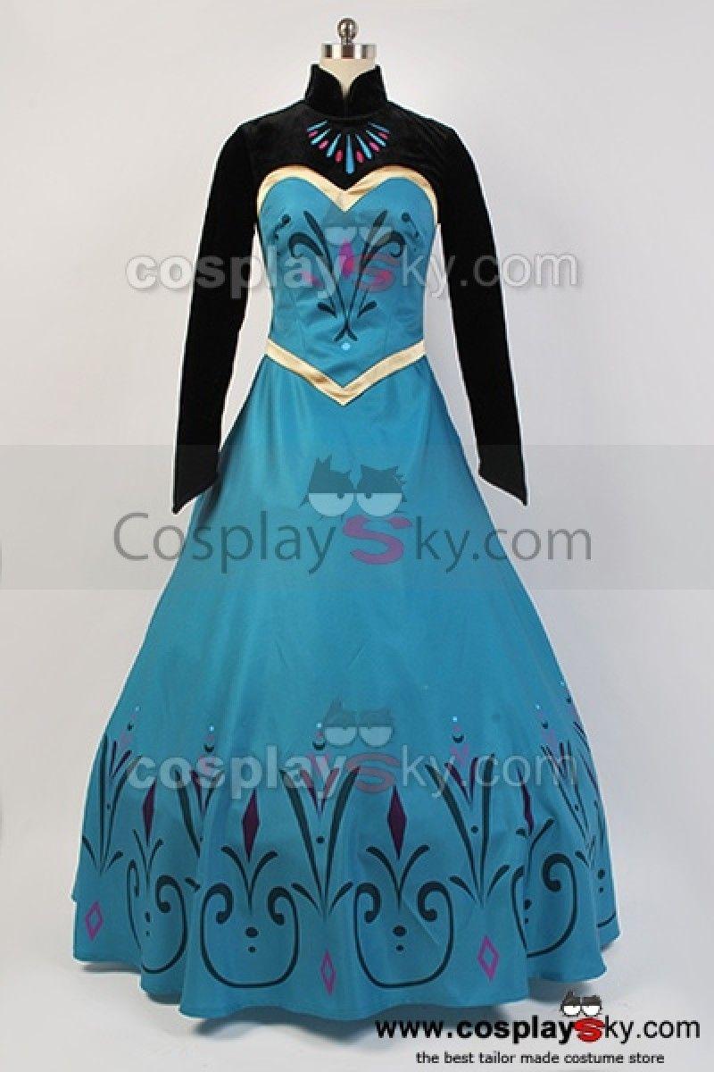 The dress from frozen - Disney Movie Frozen Elsa Coronation Dress Costume Cosplay