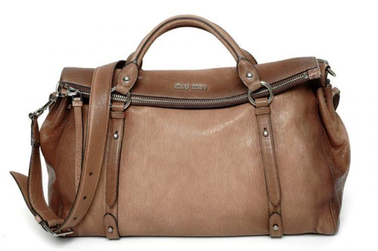 Miu Rn0970 Uo7 193 Brown Leather Handbag Bl Ebay Handbags