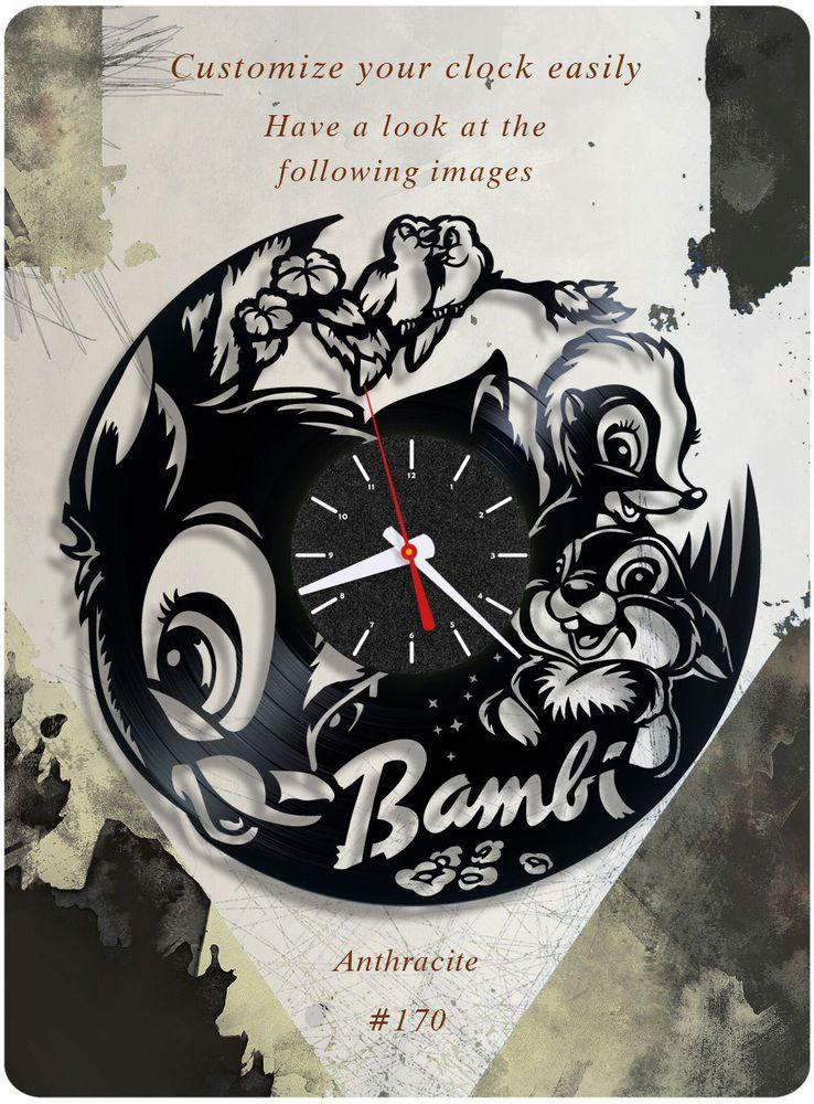 Walt Disney S Bambi Vinyl Record Clock Disney Wall Clock Child