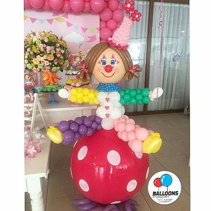 Payasita Decoraciones Con Globos Festa Circo Ideias