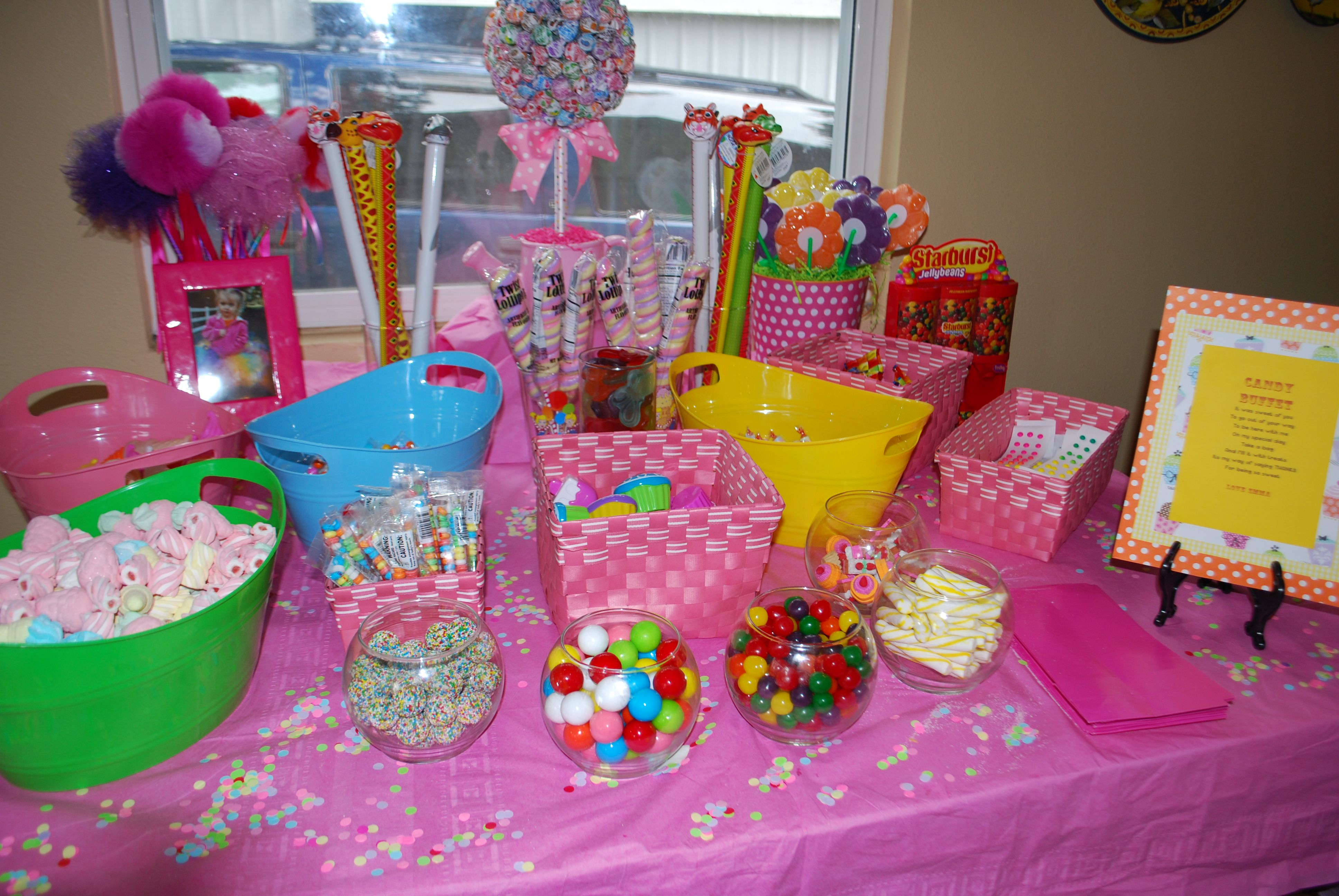 Emma S Candyland Candy Buffet Candyland Party Theme Candyland