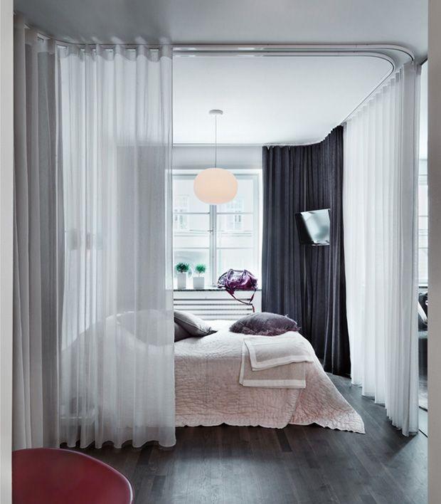 Cortinas Para Dividir Ideas Para La Casa Спальня