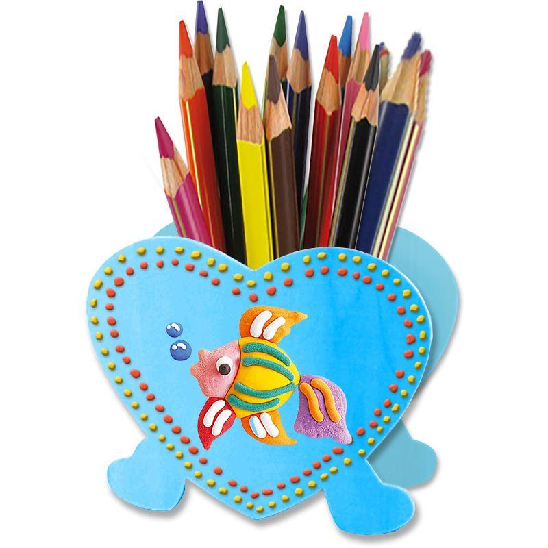 Pot crayons et peinture gonflante pot crayons - Tete a modeler paques ...