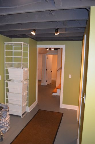 find this pin and more on laundry rooms closets basement unfinished - Unfinished Basement Design