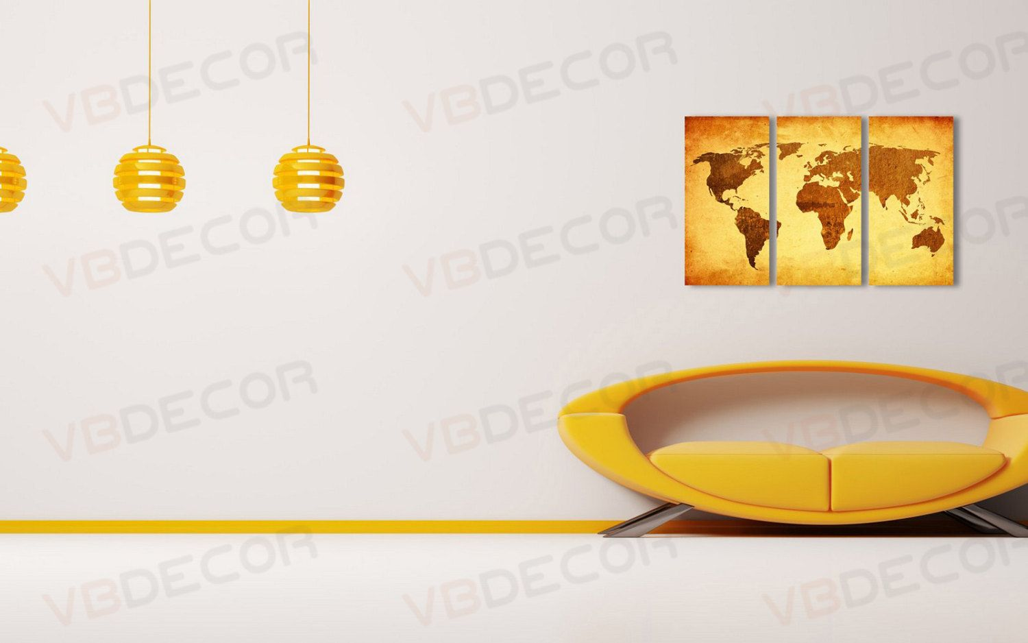 World map old paper triptych aluminium composite floating panels world map old paper triptych aluminium composite floating panels digital print world map wall art gumiabroncs Images