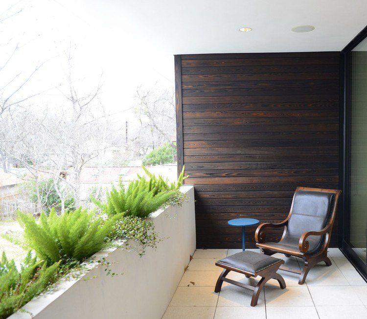 balcon-modernopared-maderajpg (750×652) Persianas Pinterest