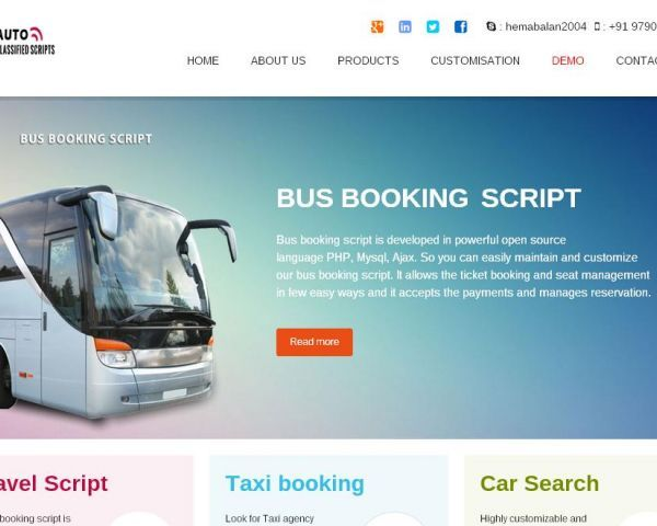 Build your own Bus Booking website that resembles AbhiBus