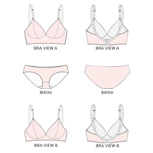 Watson Bra & Bikini Pattern | Sewing patterns, Patterns and Bra pattern