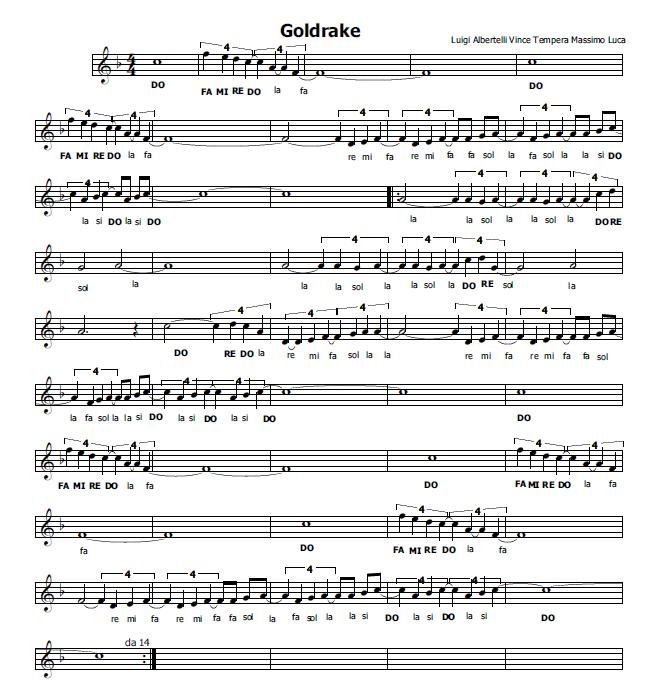 abbastanza Musica e spartiti gratis per flauto dolce: Goldrake-flauto  WW33