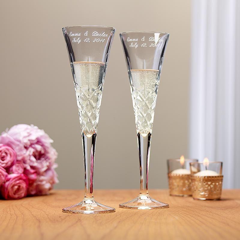 Galway romance toasting flutes personalized wedding