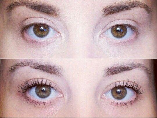 Before and after eyelash perming. Still looking natural ...