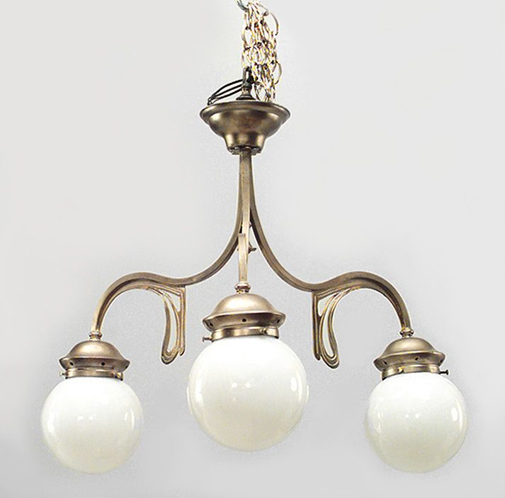 Art Nouveau Lighting Chandelier Bronze