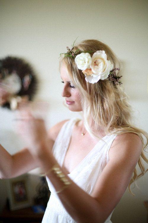 d27bfd62b3df6 Flowers by Lace and Lilies, flower crown, hair flowers, summer wedding,  spray rose, calsynia, asymmetric, colorado wedding