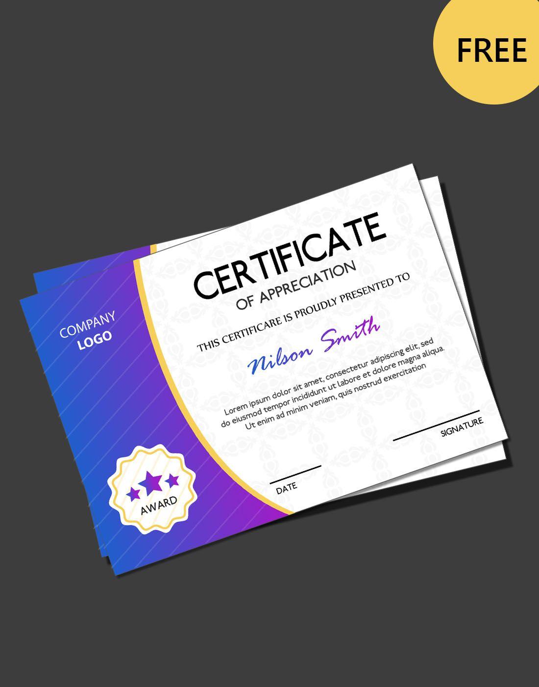 free certificate psd templates