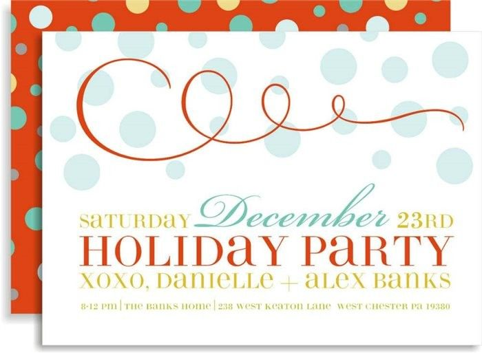 Swirly Celebration In Scarlet Invitations  Holiday Party