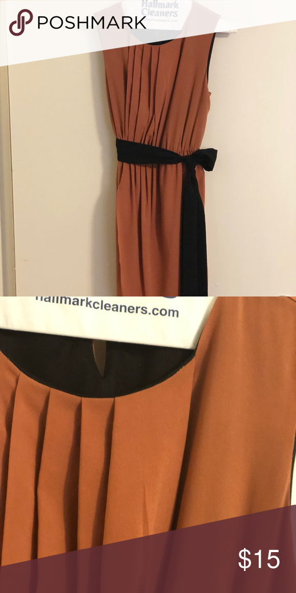 6d9790b067a6 Zara Camel Colored Dress Camel colored sleeves dress - black under slip!  Zara Dresses