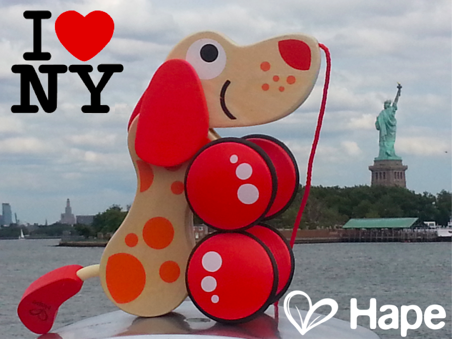 NEW YORK NEW YORK ...  Greetings to All Our Friends from New York.   Schedule your private showing. E-mail marketing@hapetoys.com  #LOVE #children #babies #teaching #happiness #education #believe #peace #Creator #Moon #Sky #Sun #Time #forever #baby #mother #father #happy #intelligence #improvement #hape #ilovehape #hapetoys #NYNOW #statueofliberty #wintercollection #toys #saving #sales #secret