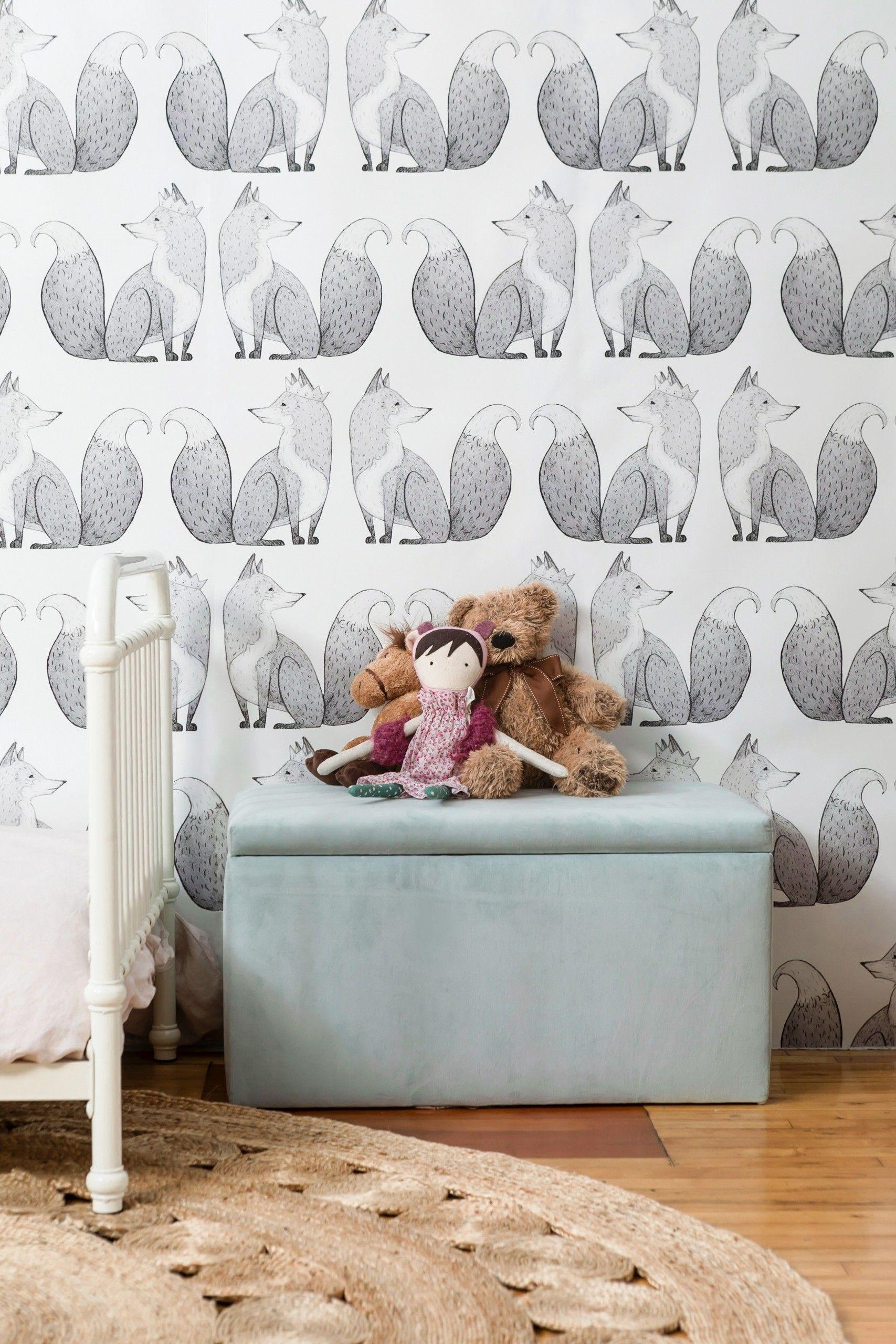 Anewall Mr Fox Wallpaper Kids Pinterest Kinderzimmer Kinder