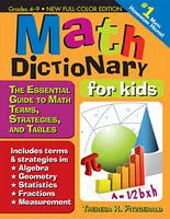 This is one of the BEST MATH DICTIONARIES you can get your child and yourself! I love the one I have and use!!!