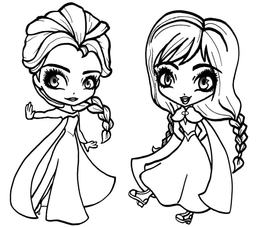 Baby Frozen Coloring Pages #babyfrozencoloringpages #