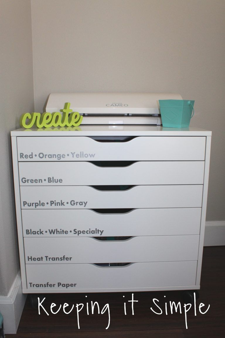 6ae8bb6e7 The Best Way to Store Vinyl {IKEA ALEX Storage Unit} • Keeping it Simple  Crafts