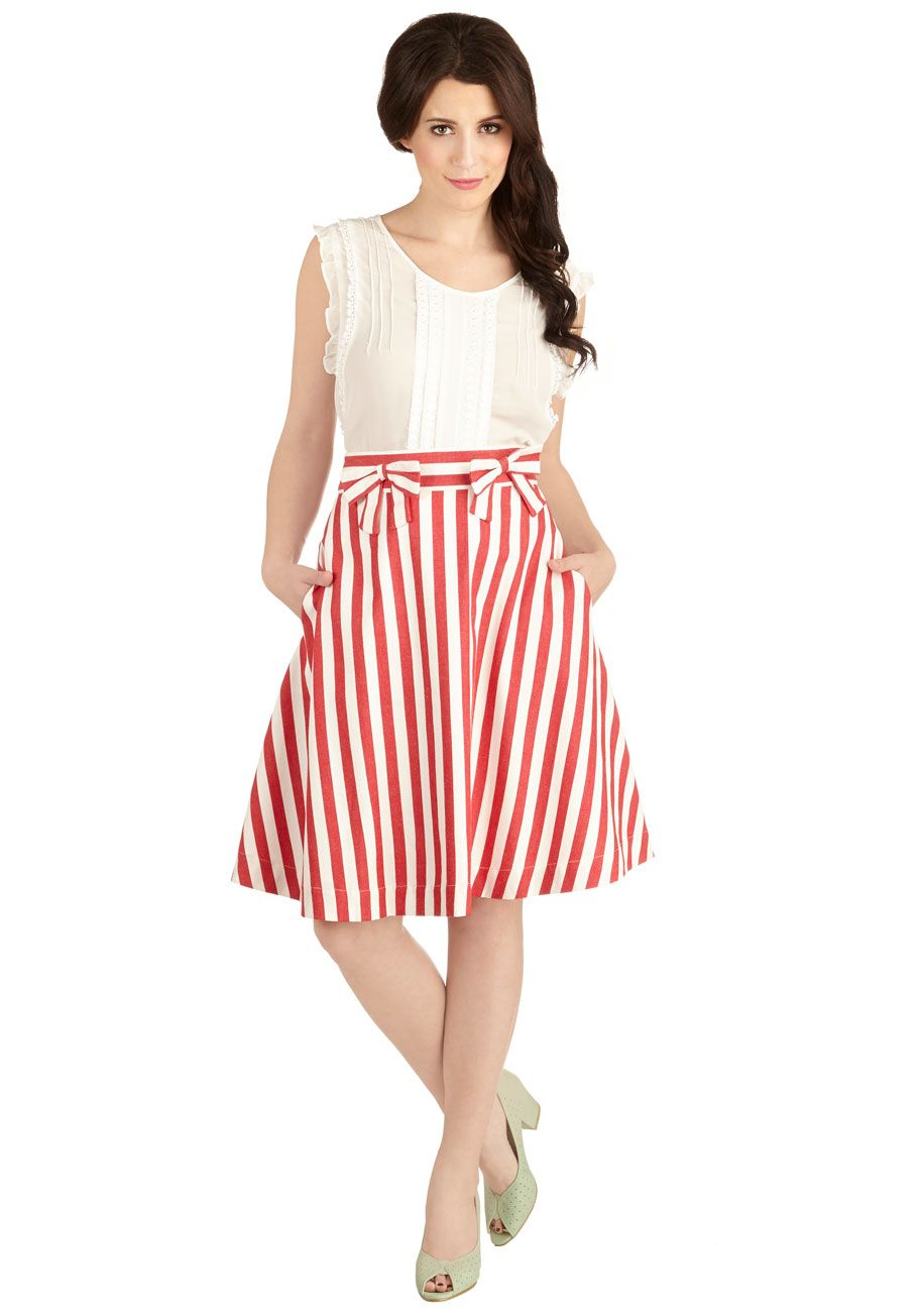 Work Day Darling Skirt in Ruby | Peppermint, ModCloth and Circle ...