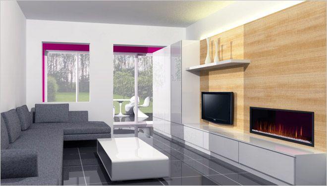 Bij deze 3D woonkamer inrichting werd gekozen voor een tv-meubel op ...