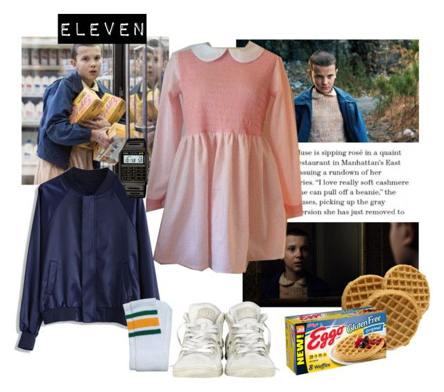 """""""Eleven From """"Stranger Things"""""""" by vilena-ferreira ❤ liked on Polyvore featuring Chicwish, Converse and Casio"""