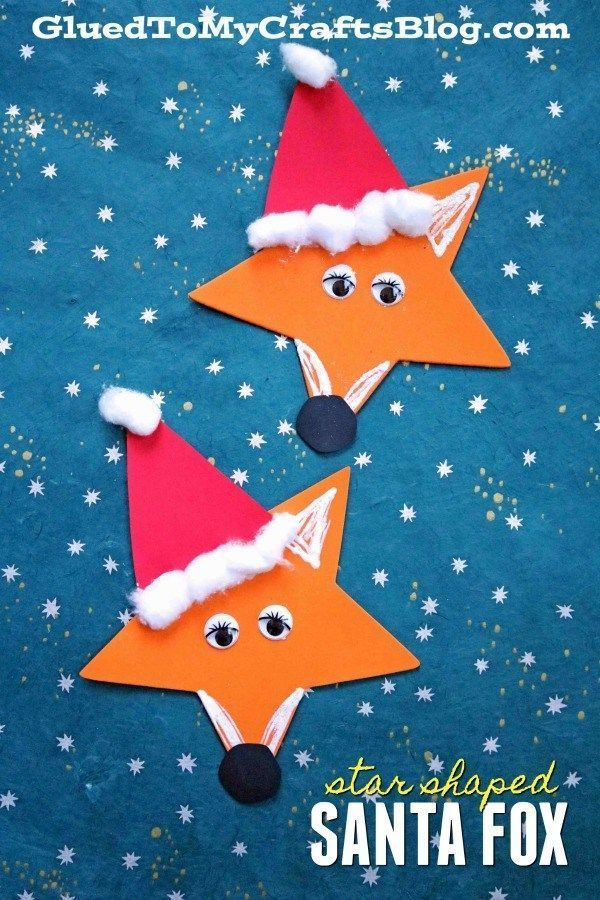 Craft Foam Star Santa Fox - Christmas Kid Craft Idea