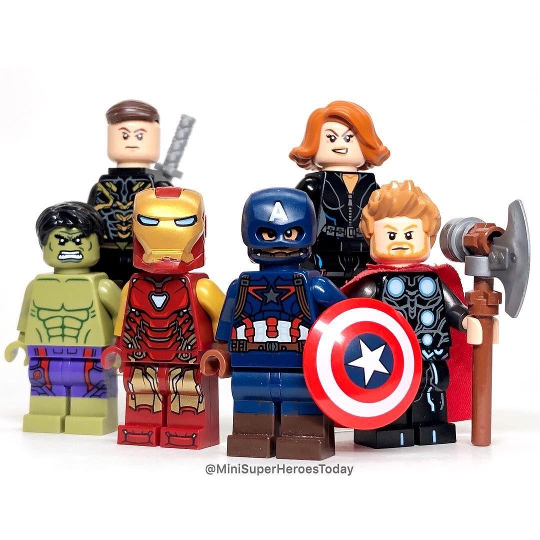 Lego Avengers Minifigures XMen Marvel Endgame Iron Man Thor Hulk Thanos America