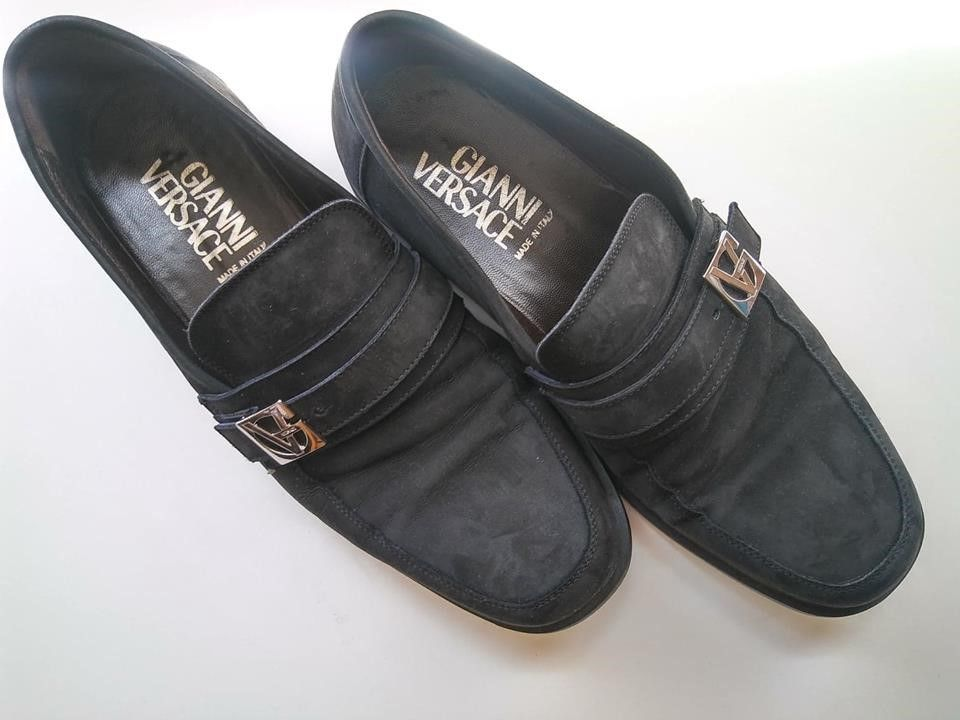 Vintage Gianni Versace Loafers Black Suede Size 9 Box Bag Included Fashion Clothing Shoes Accessories Menssh Versace Loafers Loafers Black Dress Shoes Men