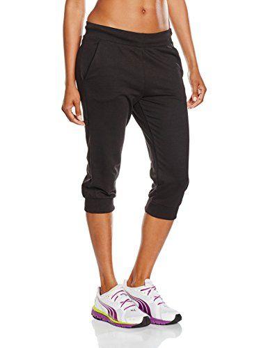 PUMA Damen Hose ESS Capri Sweat Pants W cotton black M