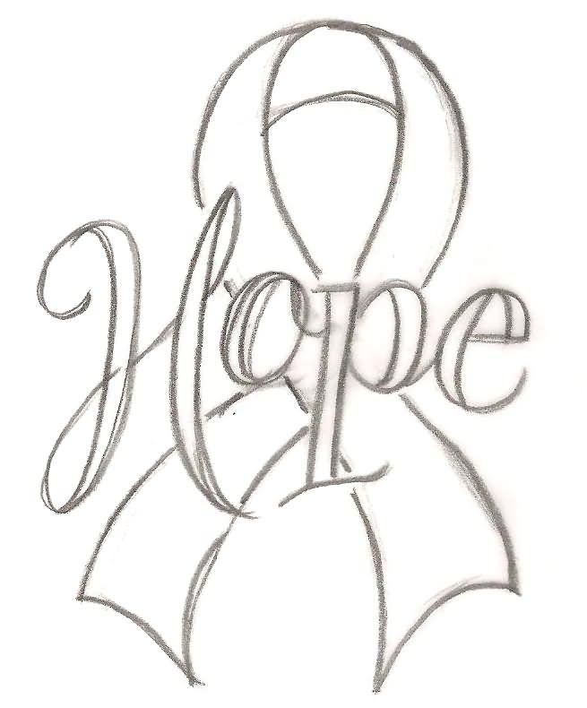 Hope Scroll Cancer Ribbon Tattoo Stencil By Metacharisjpg 655