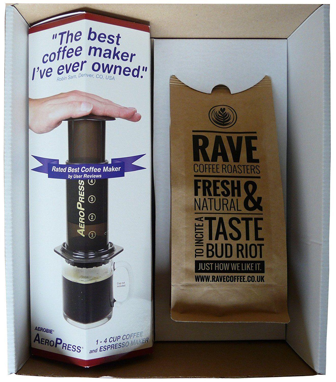 Aerobie AeroPress Coffee Maker & 250 g Rave Coffee