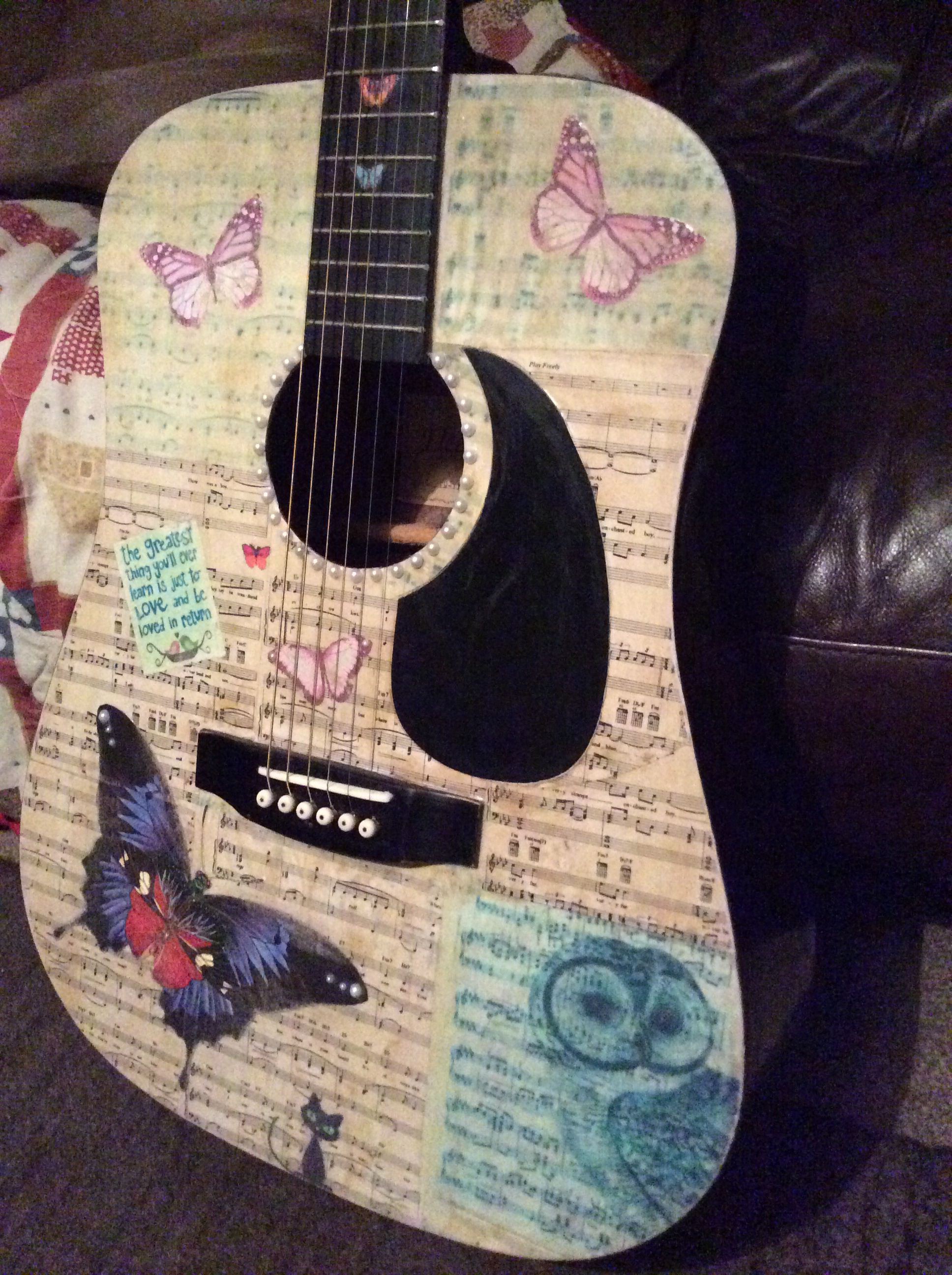 Decoupaged Guitar.