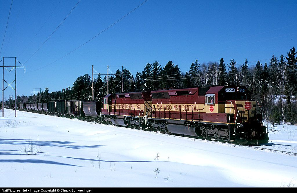 RailPictures.Net Photo: WC 7554 Wisconsin Central EMD SD45 at Eagle Mills, Michigan by Chuck Schwesinger