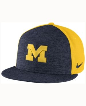promo code 1d5b1 2c4ae Nike Michigan Wolverines Col Flyknit True Cap - Blue Adjustable