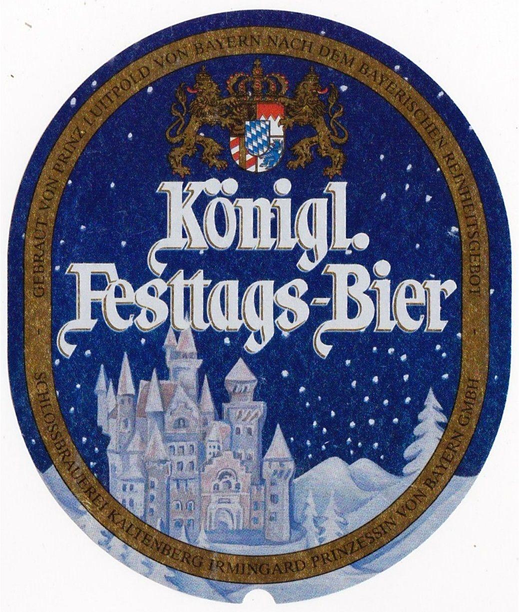 Kaltenberg Königliches Festtags-Bier, Oktoberfest/Märzen 5,6% ABV (Schloßbrauerei Kaltenberg (Warsteiner), Alemania) #label