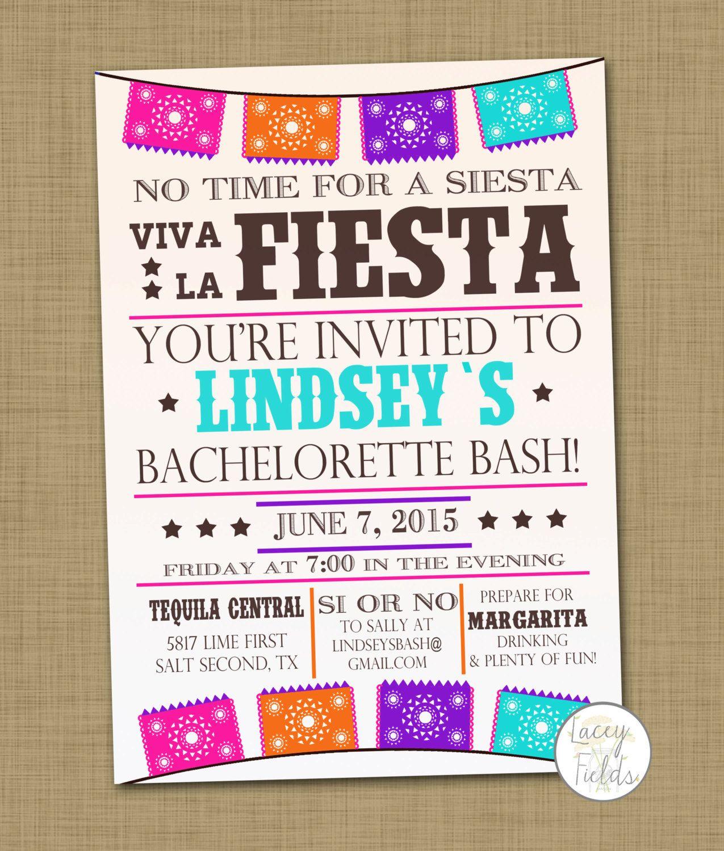 Cute design for party invites.... Fiesta bachelorette party ...