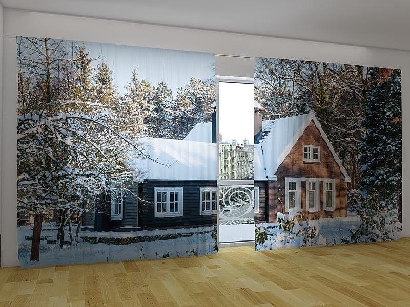 Neu! Fotogardinen Vorhänge in Luxus Fotodruck 3D 2-tlg - luxus raumausstattung shop