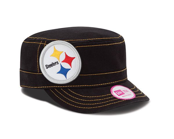 Pittsburgh Steelers New Era Women s Black Chic Cadet Military Hat hatsoff -  Official Online Store c926240dd