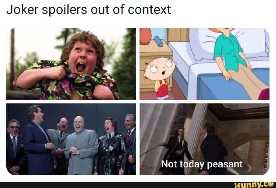 Joker Spoilers Out Of Context Ifunny Joker Avengers Funny Context