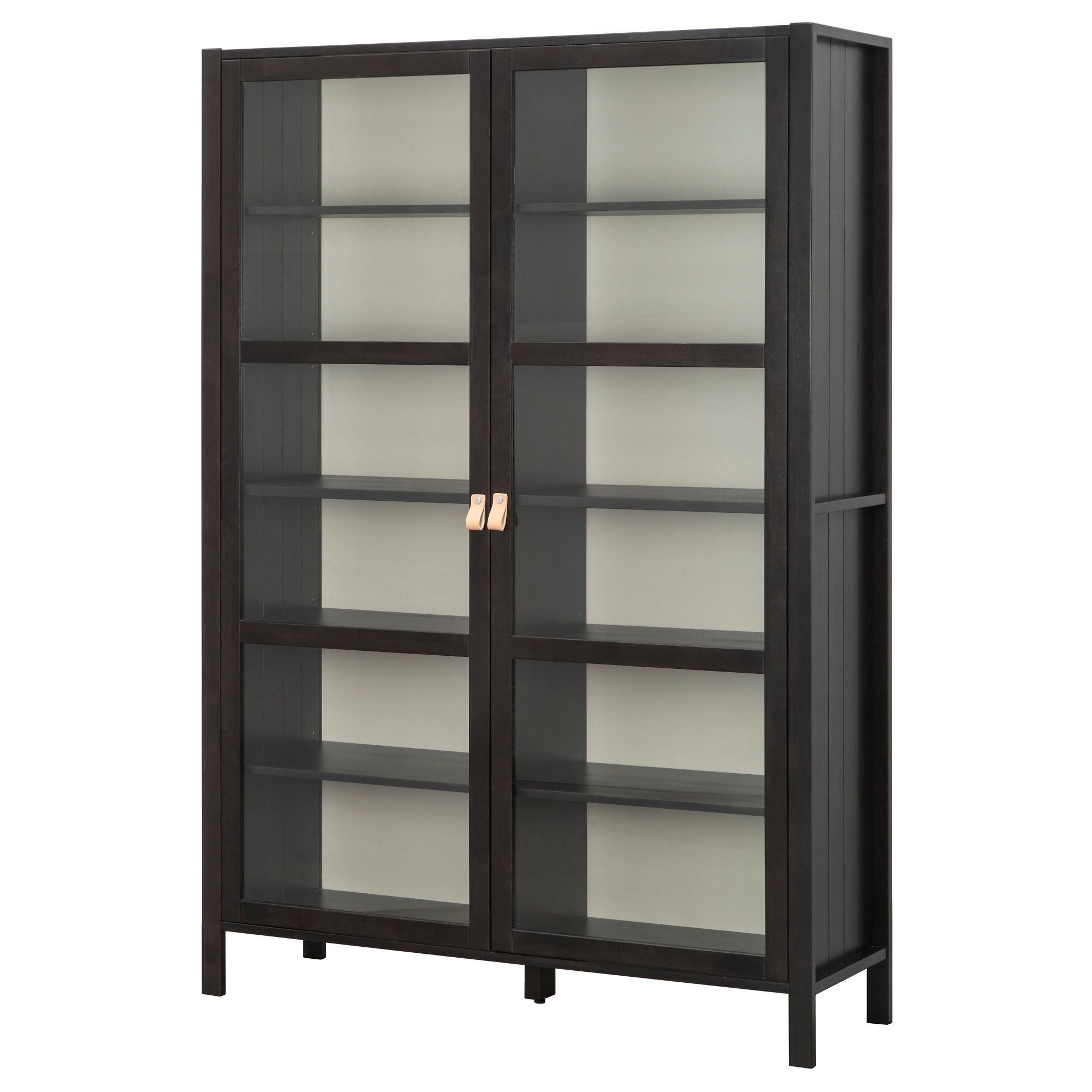Ikea Bjrksns Glass Door Cabinet With 2 Doors Solid Wood Is A