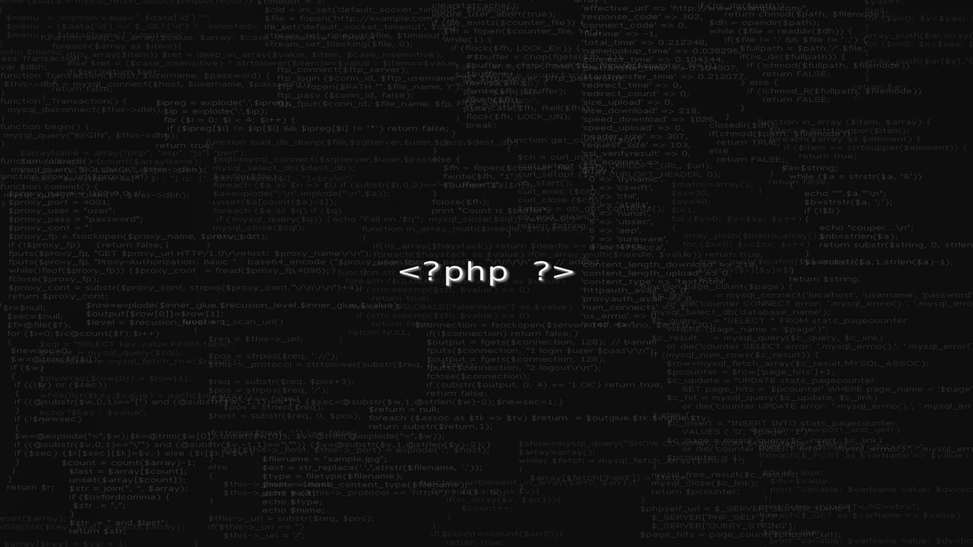 PHP Developer Black Wallpaper