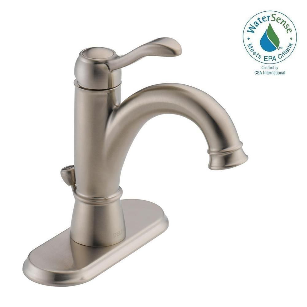 Delta Porter 4 Incenterset Singlehandle Bathroom Faucet In Pleasing Delta Single Hole Bathroom Faucet Decorating Design