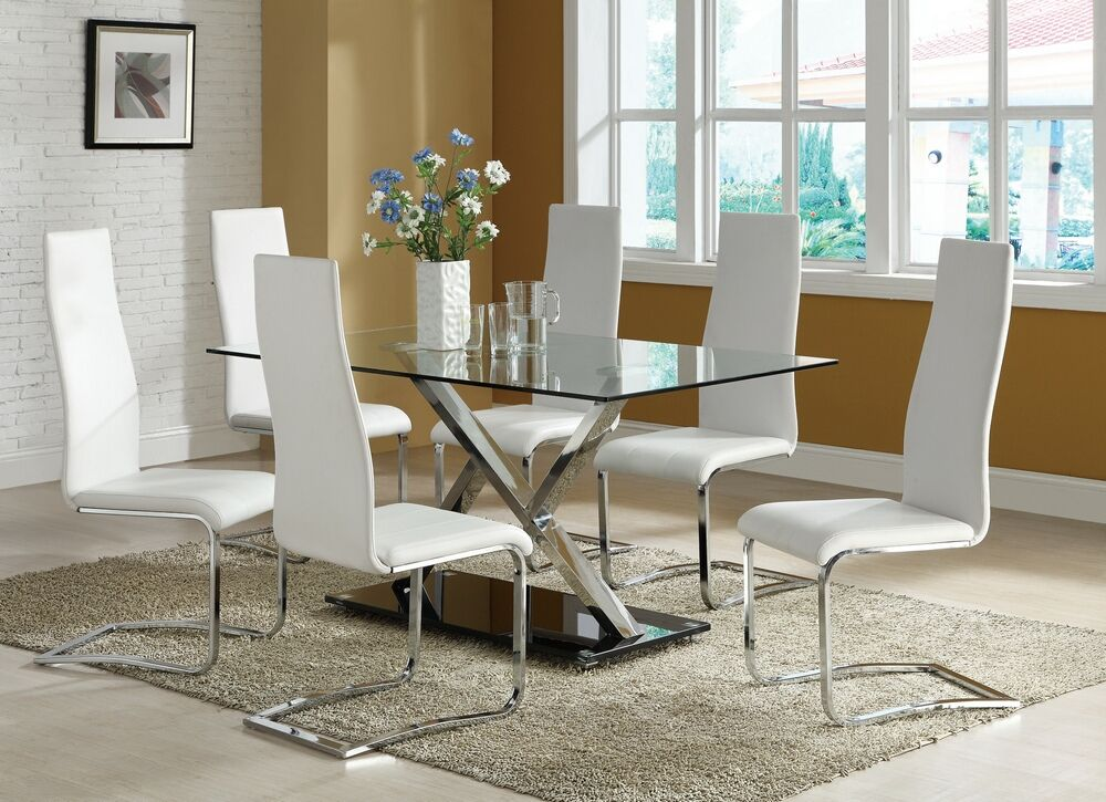 Coaster Cst102320 10 7 Pc Contemporary Dining Room Sets
