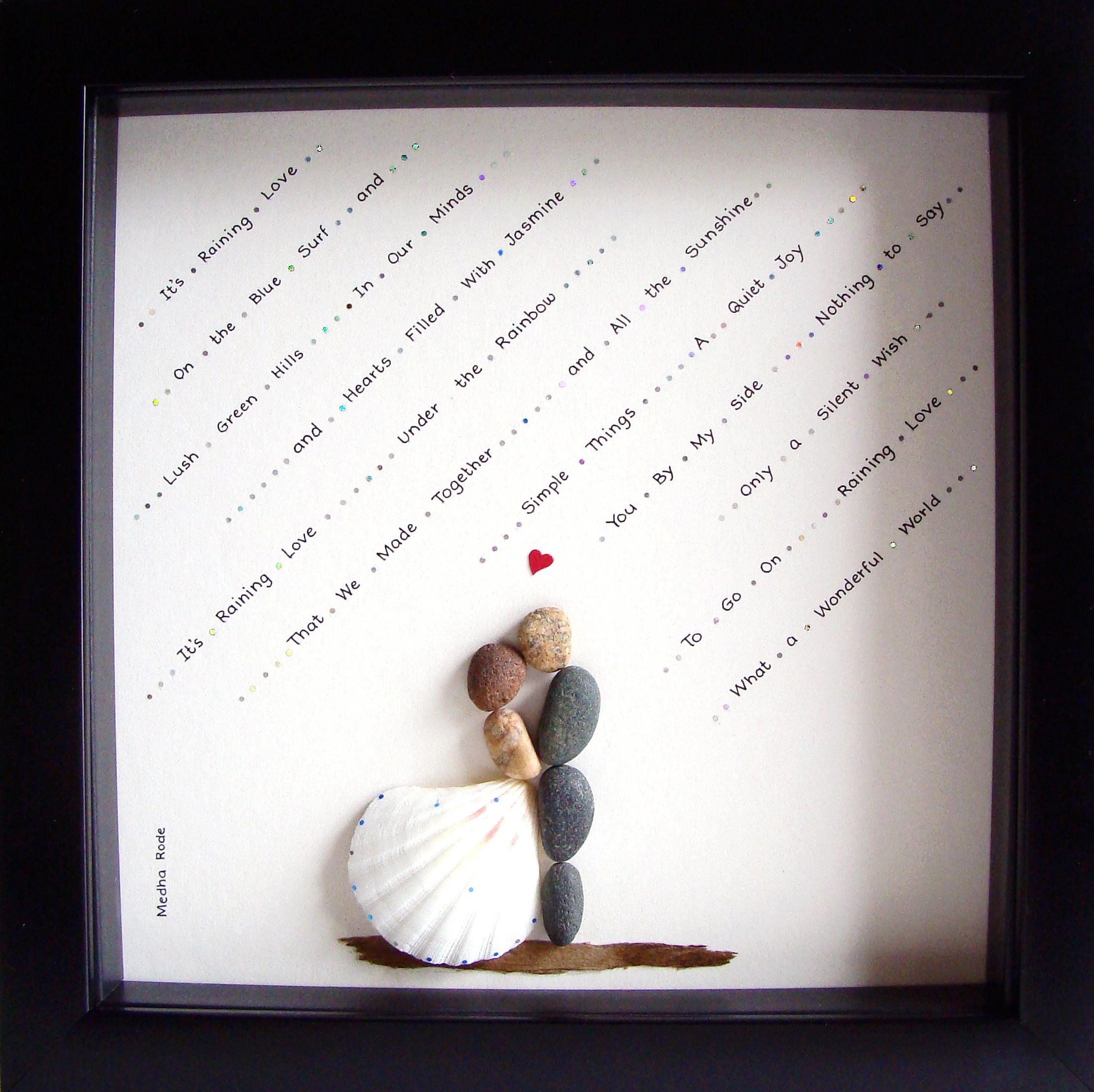 unique wedding gift customized wedding gift pebble art. Black Bedroom Furniture Sets. Home Design Ideas